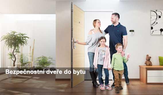 bezpečnostní protipožární dveře do bytu Plzeň