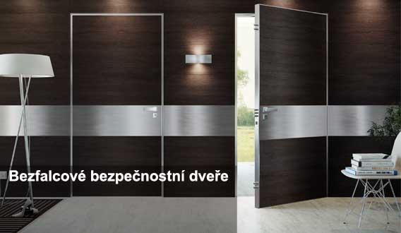 bezfalcové bezpečnostní dveře do domu Plzeň